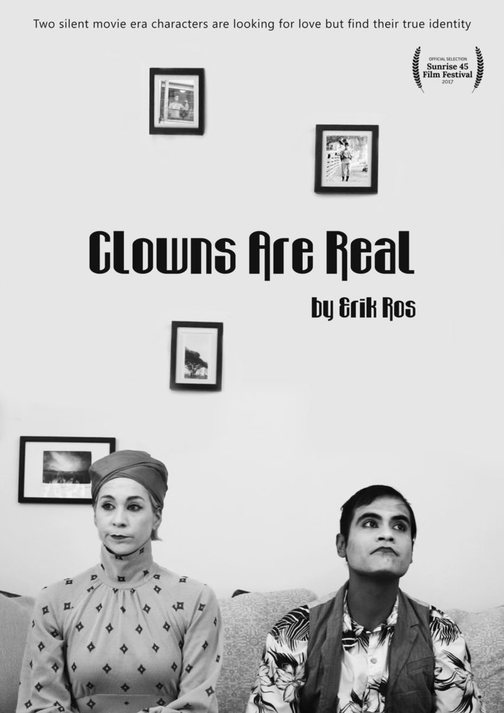 Poster for the short film Clowns Are Real